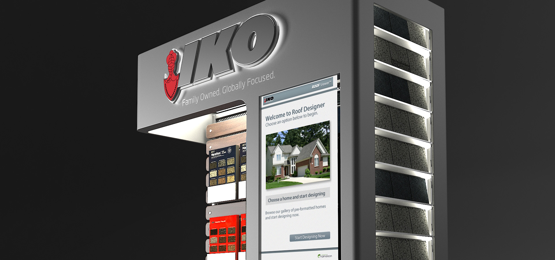 Building a modular in-store display for IKO Roofing – Central Station