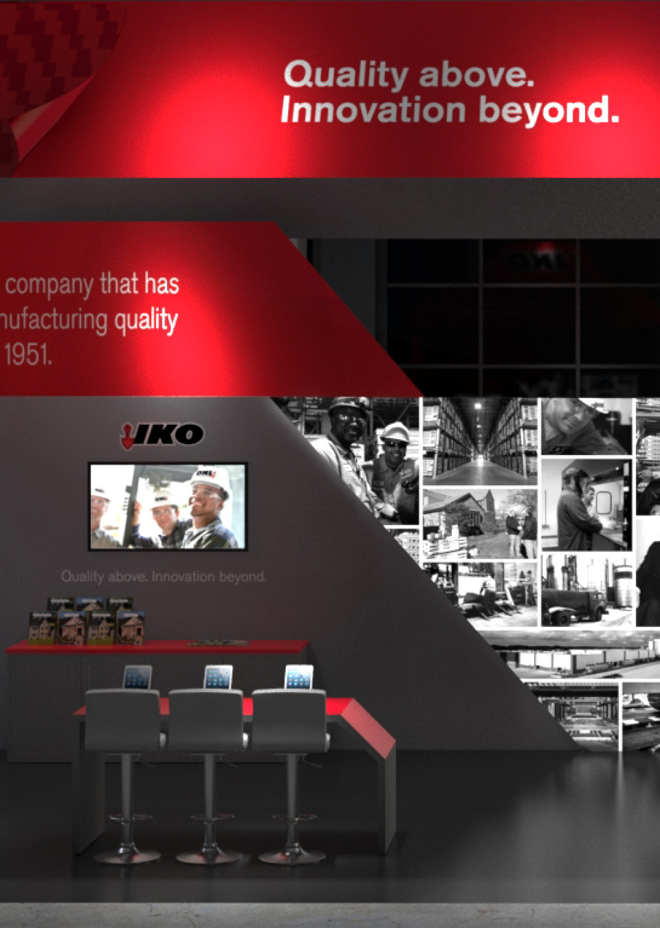 Tradeshow Booth Design for Our Roofing Client IKO - Central Station