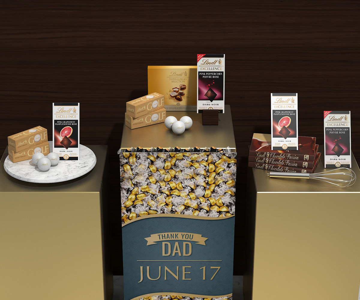 In-store Display Design & Pop-Up Displays for Lindt - Central Station