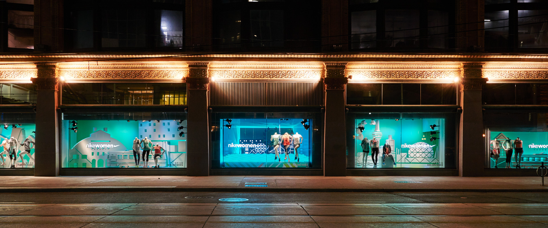 Dynamic branded environments for the Nike Women's 15k – Central Station