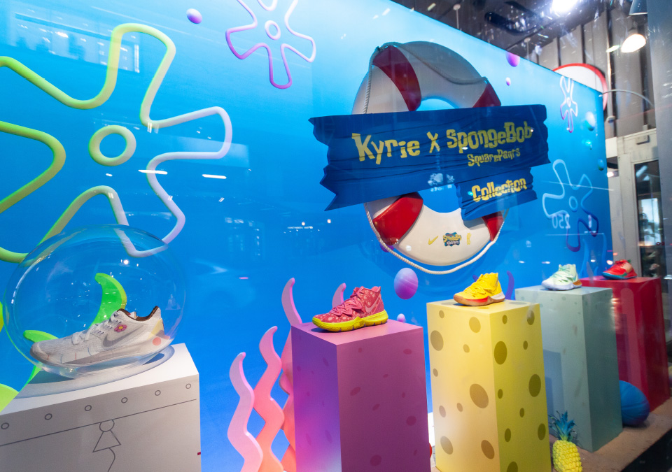 Pop-up Store Takeover for the Nike's Kyrie x SpongeBob Collection - Central Station
