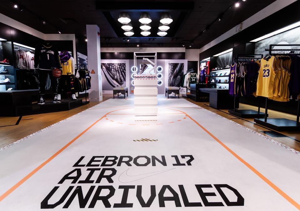 Retail Environmental Design for Nike's Lebron 17 - Central Station